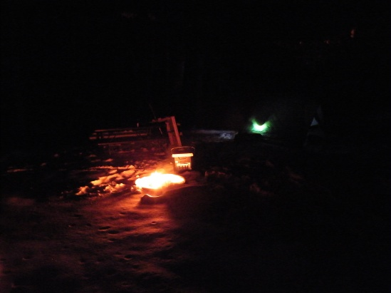 The campsite with the Little Fire That Couldn't (Deal With The Cold)